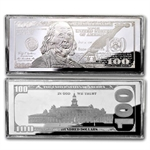 2013 4 oz $100 Bill Silver Bar (W/Box & Coa)